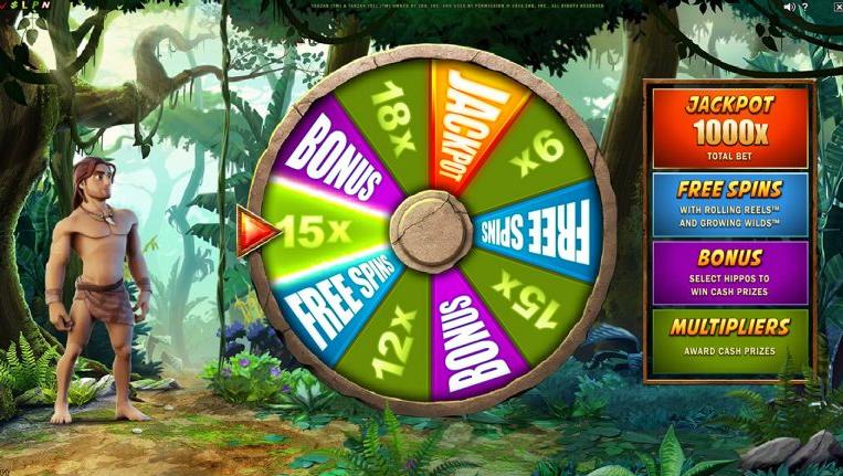 Bonuspyörä Tarzan kolikkopeli