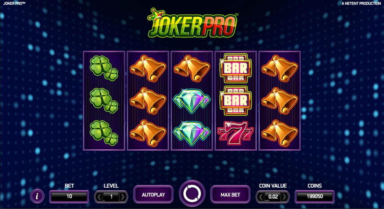 Joker Pro peliruutu